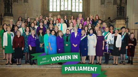 MP Lucy Frazer was female MPs and members of the House of Lords gathered in the Houses of Parliament