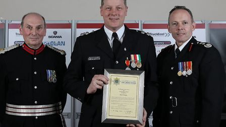 Ely watch commander Wayne Pringle was awarded a medal for long service and good conduct