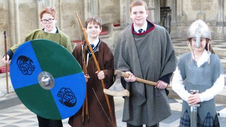 King's Ely Junior pupils enjoying their history workshop at Ely Cathedral.