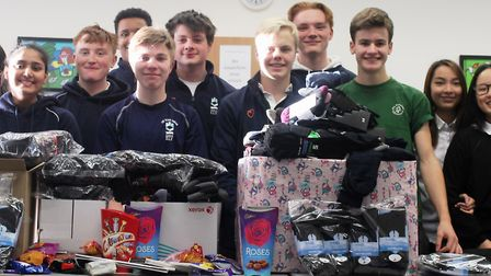 Students, staff and parents at King's Ely rallied round to support the homeless this winter by donat