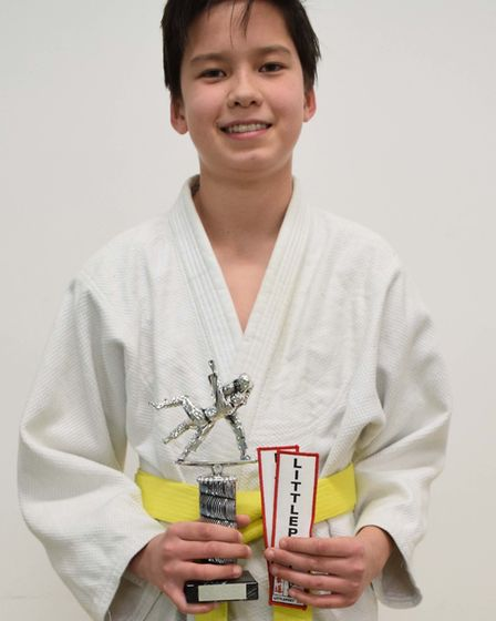 Louie Harrison was presented with the Most Improved Judoka award after impressing the clubs coachs w