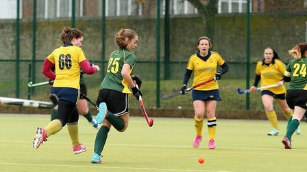 Ely City Hockey Club in a match against Newmarket