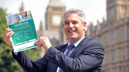 MP Steve Barclay, now a health minister, pictured in 2016 after an NHS whistle blower revealed to hi