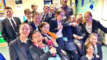 National Geographic explorer Dan Raven Ellison visited King's Ely to talk to students about some of