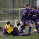 Action from the 2-2 draw between Wisbech St Mary and March Town last Saturday. Picture: IAN CARTER