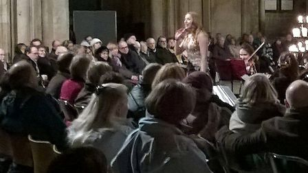 Hundreds packed Ely Cathedral for their annual Valentine's concert.