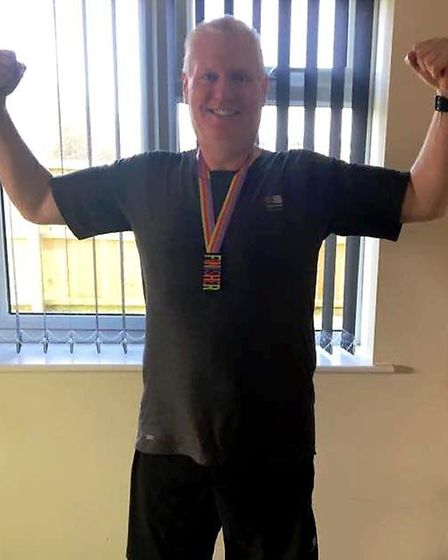 AFTER: Peter O'Connor loses four stone and is training to compete in the 10K GEAR race