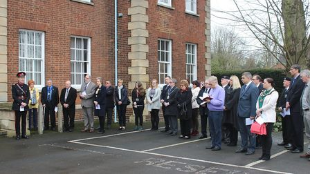 Guests gathered at Fenland Hall | Commonwealth Flag