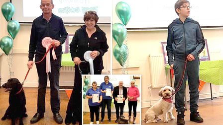 Pampered pooches strutted their stuff at Wimblingtons answer to Crufts.