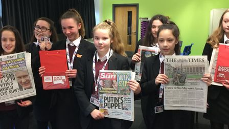 Pupils from Neale-Wade Academy get the chance to be journalists for the morning
