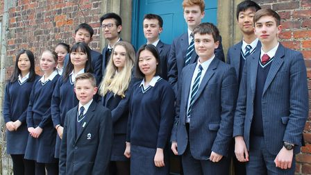 Students from King's Ely school put maths skills to the test
