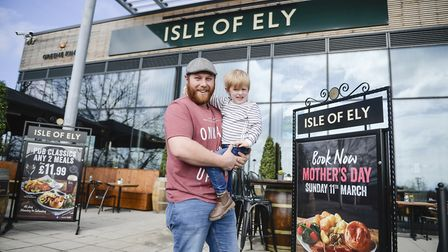 The first guests to step inside the Isle of Ely were Tom Cockerton and his son, Freddie - The Isle o