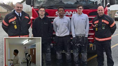 Sanctuary apprentices answer call to help local fire station - Watch Commander Jim Sharpe, Sanctuary