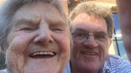Editor John Elworthy took this selfie with his mum shortly before her death in 2016.