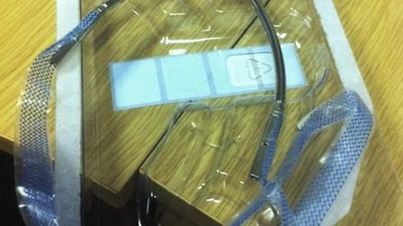 A picture of a mesh kit, called a TVT, used to treat stress incontinence in women. Chief Medical Of