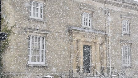 Wisbech covered in snow following the so-called Beast from the East - The met office has issued a ye