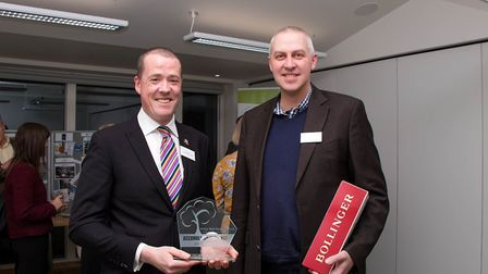 Tony Murdock, director of Quy Mill Hotel and Spa (left) – whose team were once again the winners of