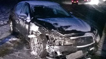 Police in East Cambs hopes this will be one of the last crashes of winter. It happened on Friday