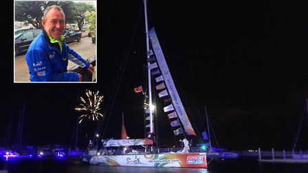 Glenn Manchett has touched base in China six months into taking part in the 2018 Clipper Round the