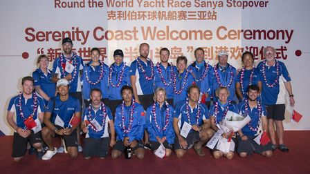 Team photo, Glenn is front row, third from left - 2018 Clipper Round the World Yacht Race.