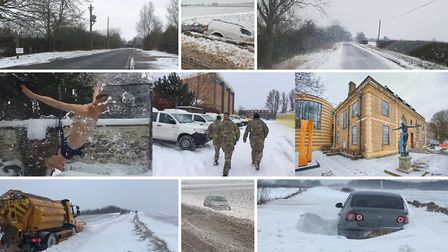 Our montage of some of the many photos from across the region showing how Beast from the East has di