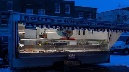 Fenland today: Early stall holder at Wisbech market