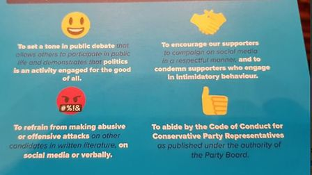 Tory pledge on council candidates' behaviour by South Cambs Conservative Association