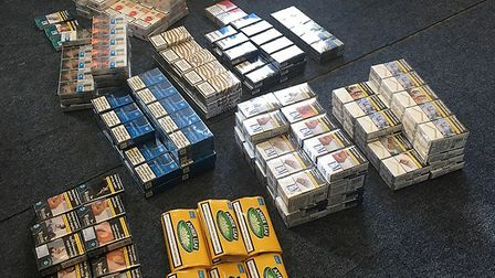 Fenland District Council and Wisbech Fire Station seized cigarettes and tobacco