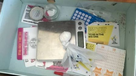 The cocaine that was seized by police during a raid in Rule Gardens, Fordham, on March 9.