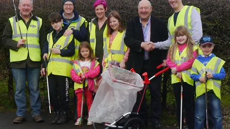 Litter Pickers can now easily spruce up the area with birthday gift