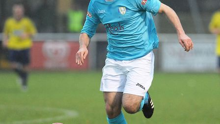 New Ely City signing Jamie Thurlbourne in action for one of his former clubs, King's Lynn Town. Pict