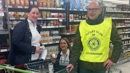 Foodbanks feature heavily in the report. This picture was taken recently of Ely Hereward Rotary Club