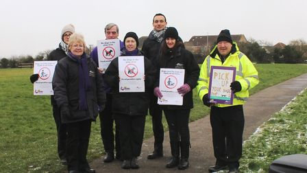 Street Scene team members for theTidy Feland pick up your dog poop campaign