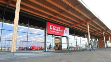 The 'mothballed' out of town Tesco as it becomes a Poundstretcher superstore, Chatteris. Photo: Harr