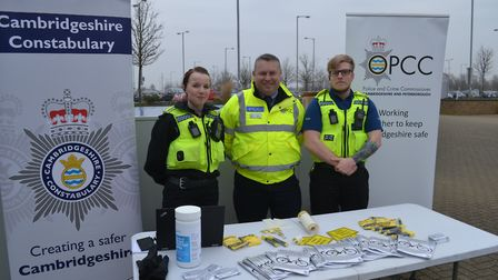 Police and Crime Commissioner Jason Ablewhite with Team Bike at the Park and Ride.