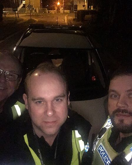 Special Inspector Paul Jenkins, Detective Sergeant Tom Rowe and Superintendent James Sutherland on t