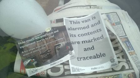 Van security advice given on 'Operation Oculus' day.
