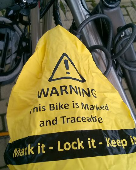 Security bike seat cover spoken about during 'Operation Oculus'.