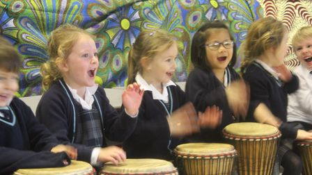 School children enjoy African storytelling day with African Activities founder Kwame Bakoji-Hume