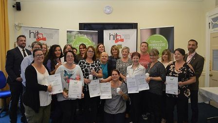 School caterers, cleaners and caretakers were amongst those honoured at Cambridgeshire Catering and