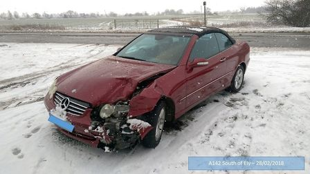 An unfortunate driver was involved in a damage only road traffic collision on the A142 this morning