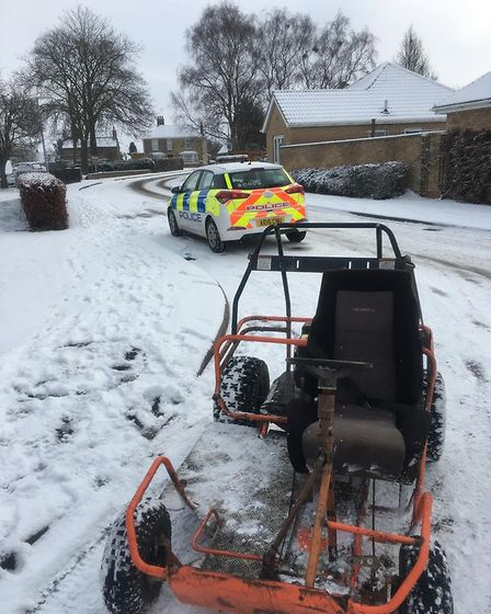 A PCSO turned into a full blooded detective when he heard reports of an orange go-kart annoying resi