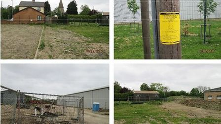 Knowles application: site photos produced by FDC officers. Mr Knowles has won an appeal for a grain