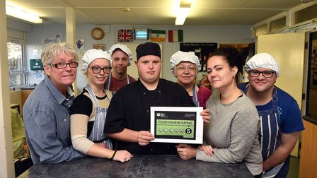Seen here in the FACET kitchen, are Alexis Read and her mum Steph who have been awarded 5 in the Foo