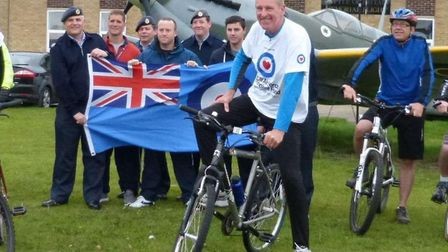 Ex-RAF corporal Martin McCloy is gearing up for a 120-mile cycle challenge between two RAF stations