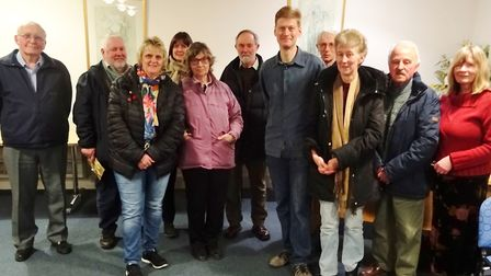 Peter Vince of The Woodland Trust (centre front) with some of the members of the March Society audie