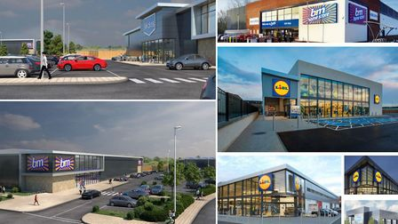 Artists impressions of the new Angel Drove development of shops and offices.