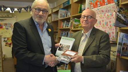 Christopher South, the historian of Grunty Fen at Burrows Bookshop yesterday to celebrate his latest
