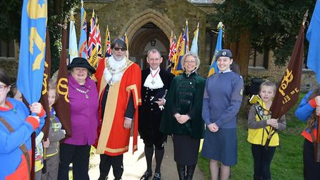 A service to celebrate 100 years of the Royal Air Force was held at Ely St Mary's. Picture: Mike Rou