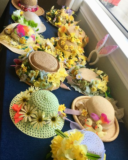 The ladies donned their best bonnets for their annual Easter lunch. Picture: Clare Butler